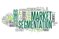 Word Cloud with Market Segmentation related tags